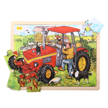 Bigjigs 24 Piece Tray Puzzle Tractor