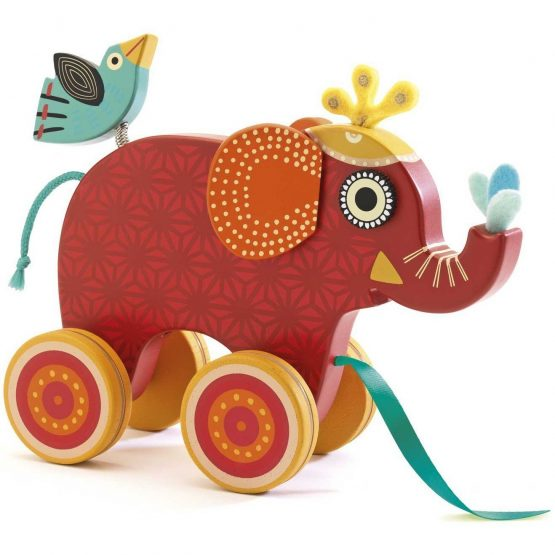 """Djeco """"Indy"""" Pull Along Elephant"""
