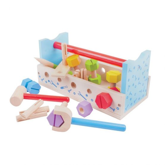 Bigjigs My Wooden Workbench with Tools – Construction for Kids