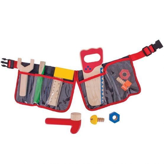 Bigjigs Red Carpenter's Tool Belt