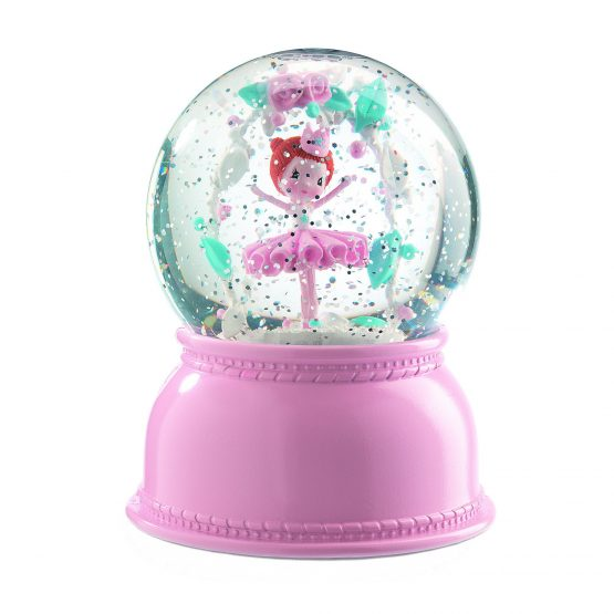 Ballerina Night Light Snow Globe – Djeco