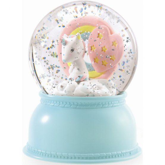 Unicorn Night Light Snow Globe – Djeco