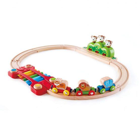 Hape Music and Monkeys Railway Toy.