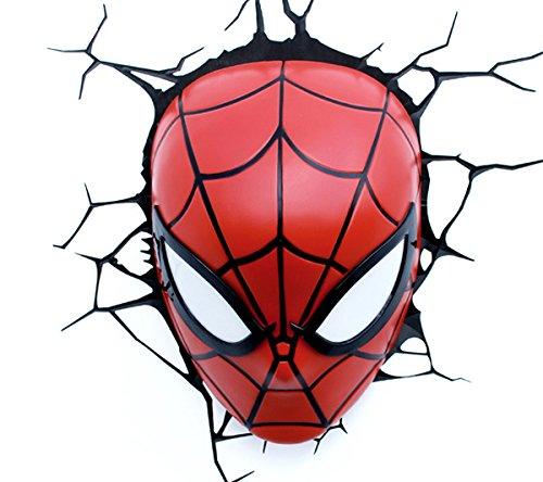 Marvel 3D LED Light Spiderman Mask