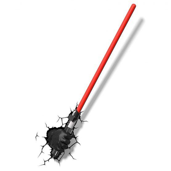 3D Star Wars Darth Vader Hand and Light Saber 3D Deco Light,