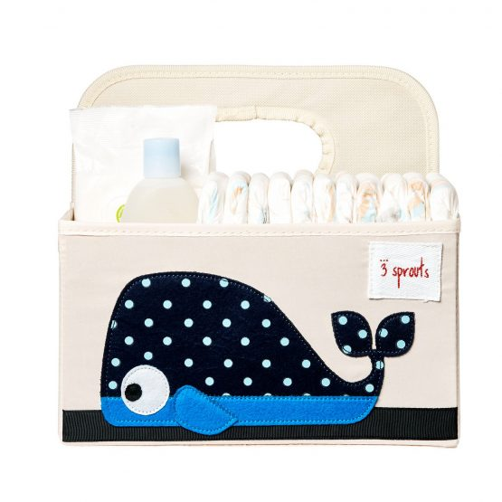 3 Sprouts Whale Nappy Caddy