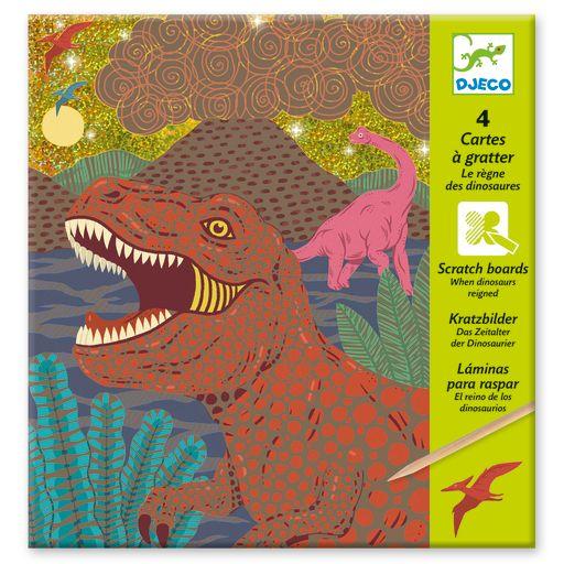Djeco Scratch Boards – Dinosaurs
