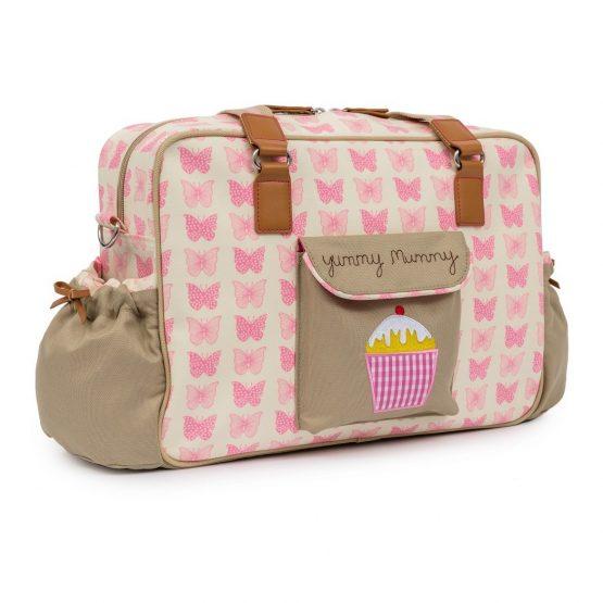 Pink Lining Pink Butterflies Changing Bag