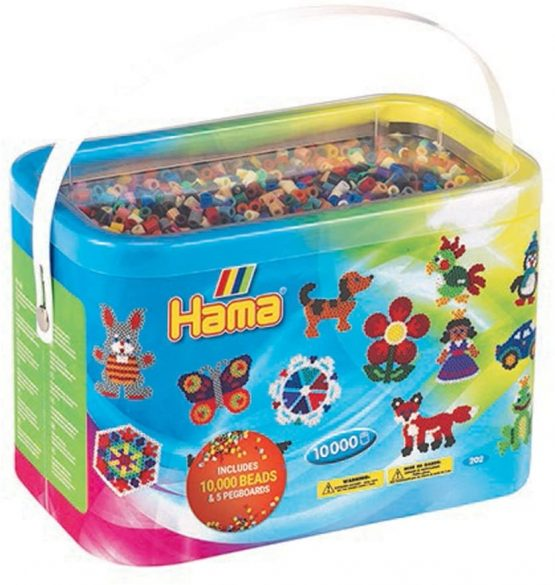 Hama beads 10,000 and 5 pegboard tub