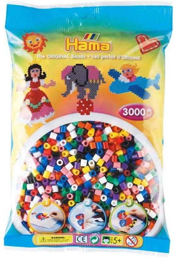 Hama 3000 Beads Solid Mix