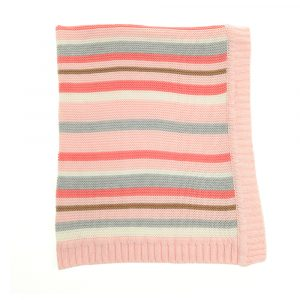 Pink and Grey Stripe Ziggle Blanket