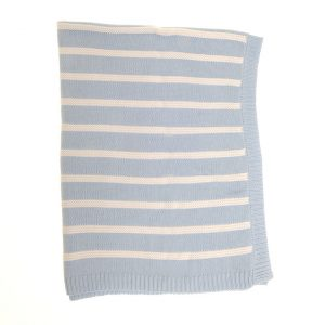 Ziggle Blue and White Blanket