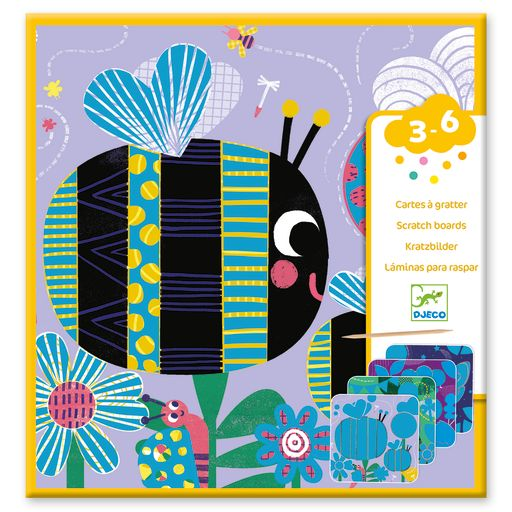 Djeco Scratch Cards for Little Ones – Bugs