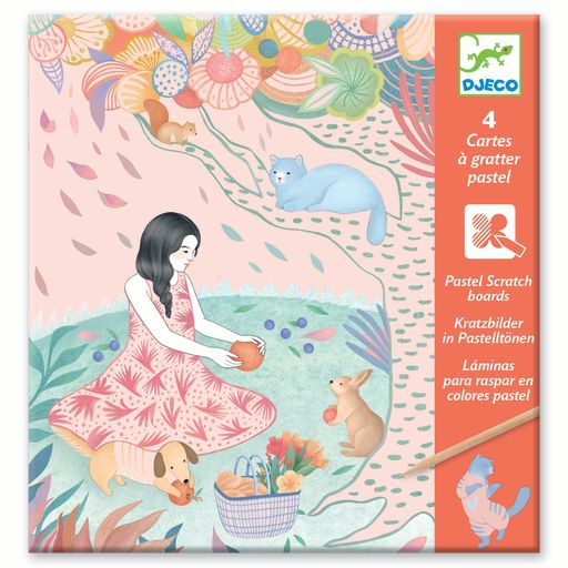Djeco Pastel Scratch Boards – The Picnic