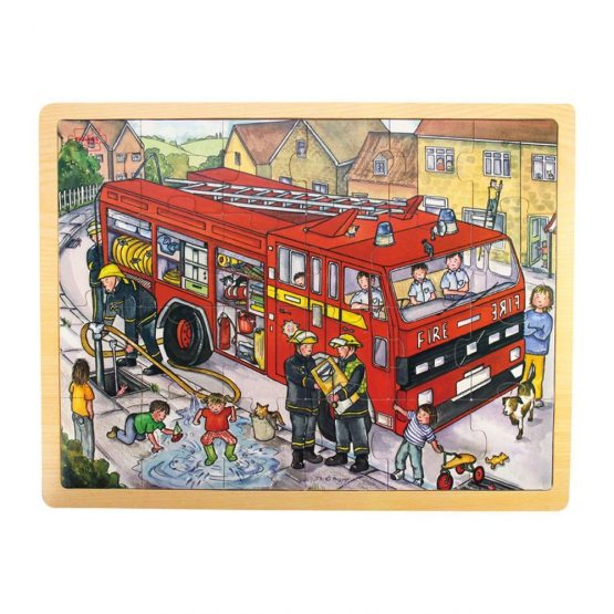 Bigjigs Fire Engine Tray puzzle