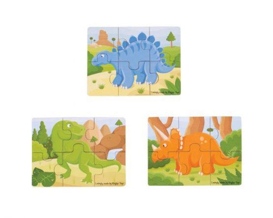 Bigjigs 6 piece puzzles Dinosaur