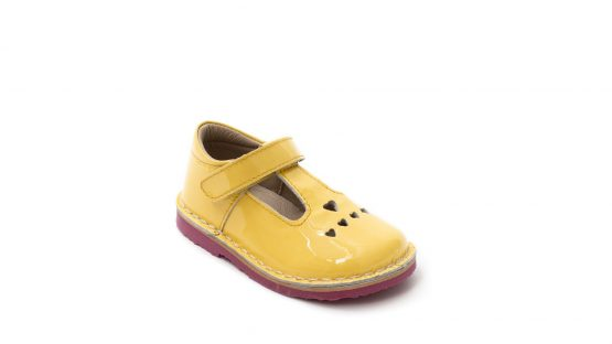 Petasil Sonia Girls Yellow Patent