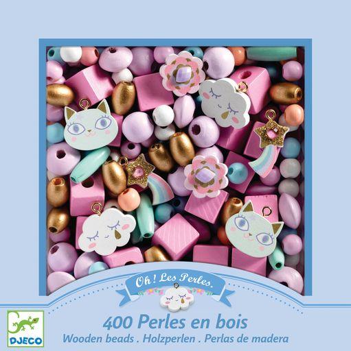 Djeco Wooden Beads Set – Rainbows