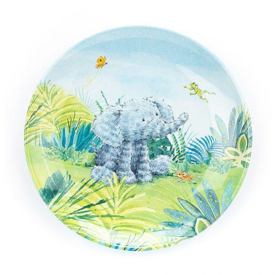 Jellycat Elephants Cant Fly Melamine Plate