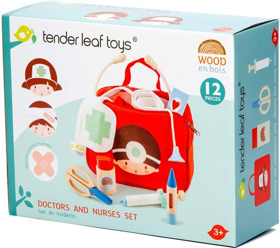 77. Tender Leaf Toys Doctors and Nurses Bag – Dressing Up Medical Playset
