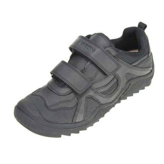 Geox Black School Shoe Artach J4434A C9999