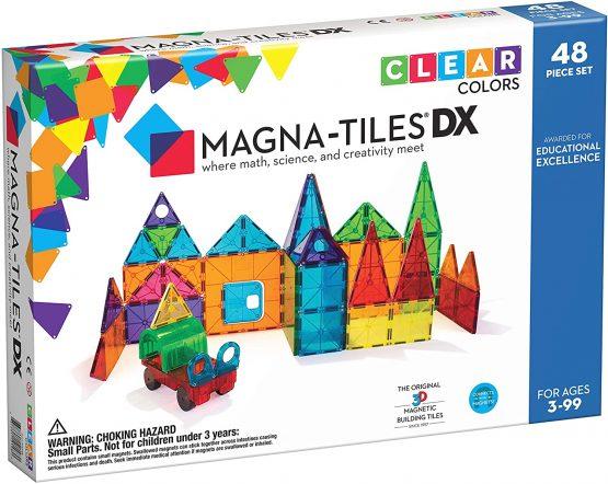 Magna-Tiles Clear Colours 48 Piece DX Set
