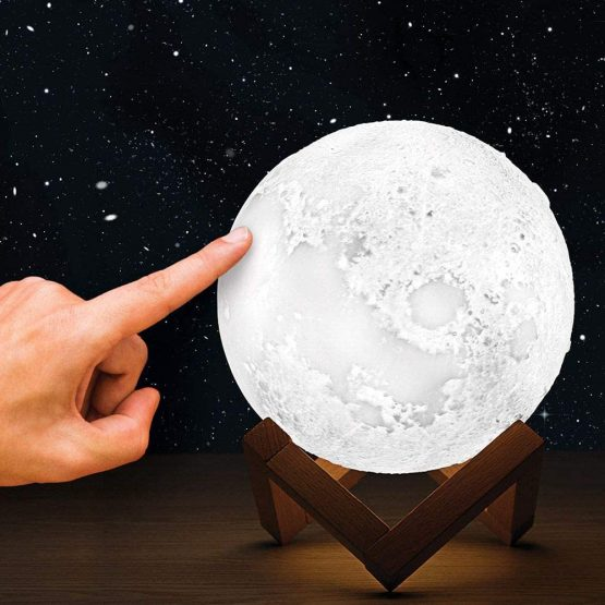 Colour Changing 3D Touch Control Moon Lamp Light