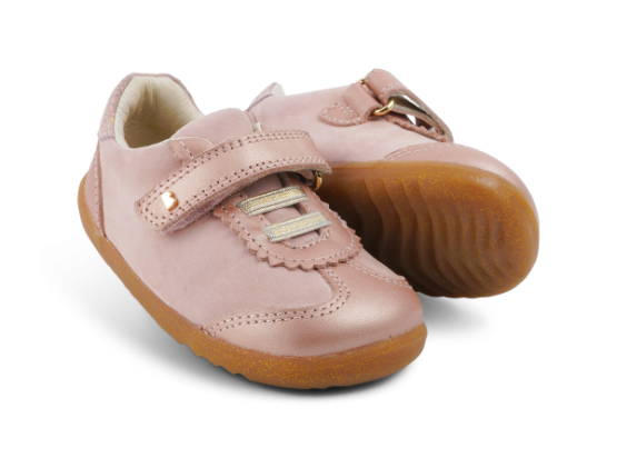 Bobux Sprite Step Up Girls First Shoes Rose Gold