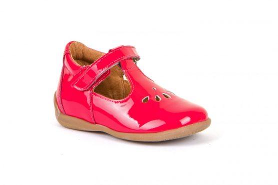 Froddo Girls fushia patent T-bar leather shoes G2140051
