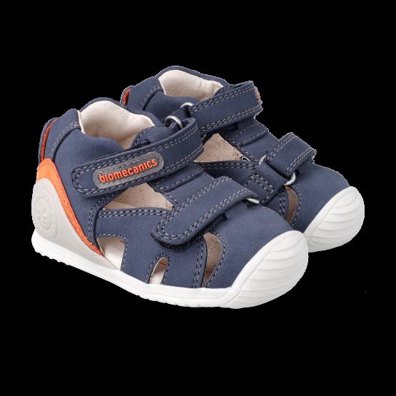 Biomecanics Navy Boys Leather Sandal 212137