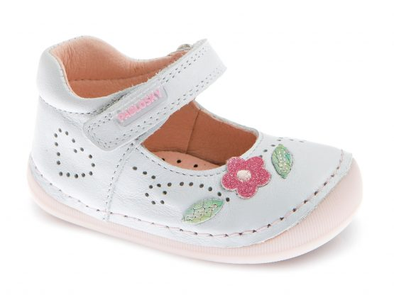Pablosky Girls White Mary Jane First Shoe 068905