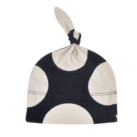 Knotted Hat Giant Spot Navy 0-5m