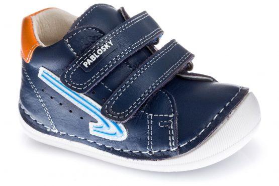 Pablosky Navy Leather First Steps Boys Shoe 090722