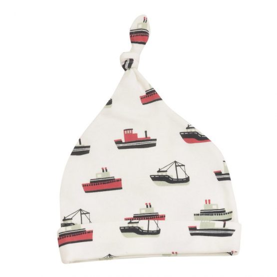 Pigeon Organics Knotted Hat – Boats 0-5 months