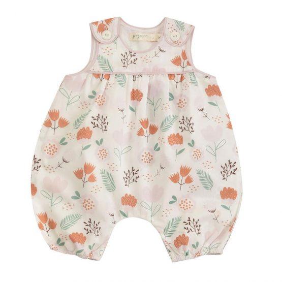 Pigeon Organics Baby playsuit -Flowers
