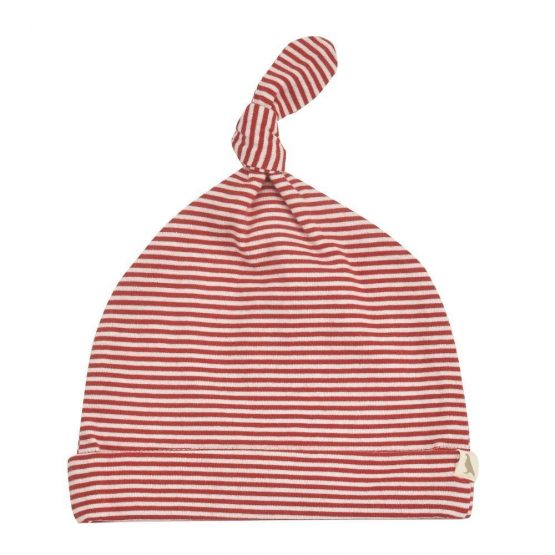 Pigeon organics knotted hat (Red Stripe) 0-5 months